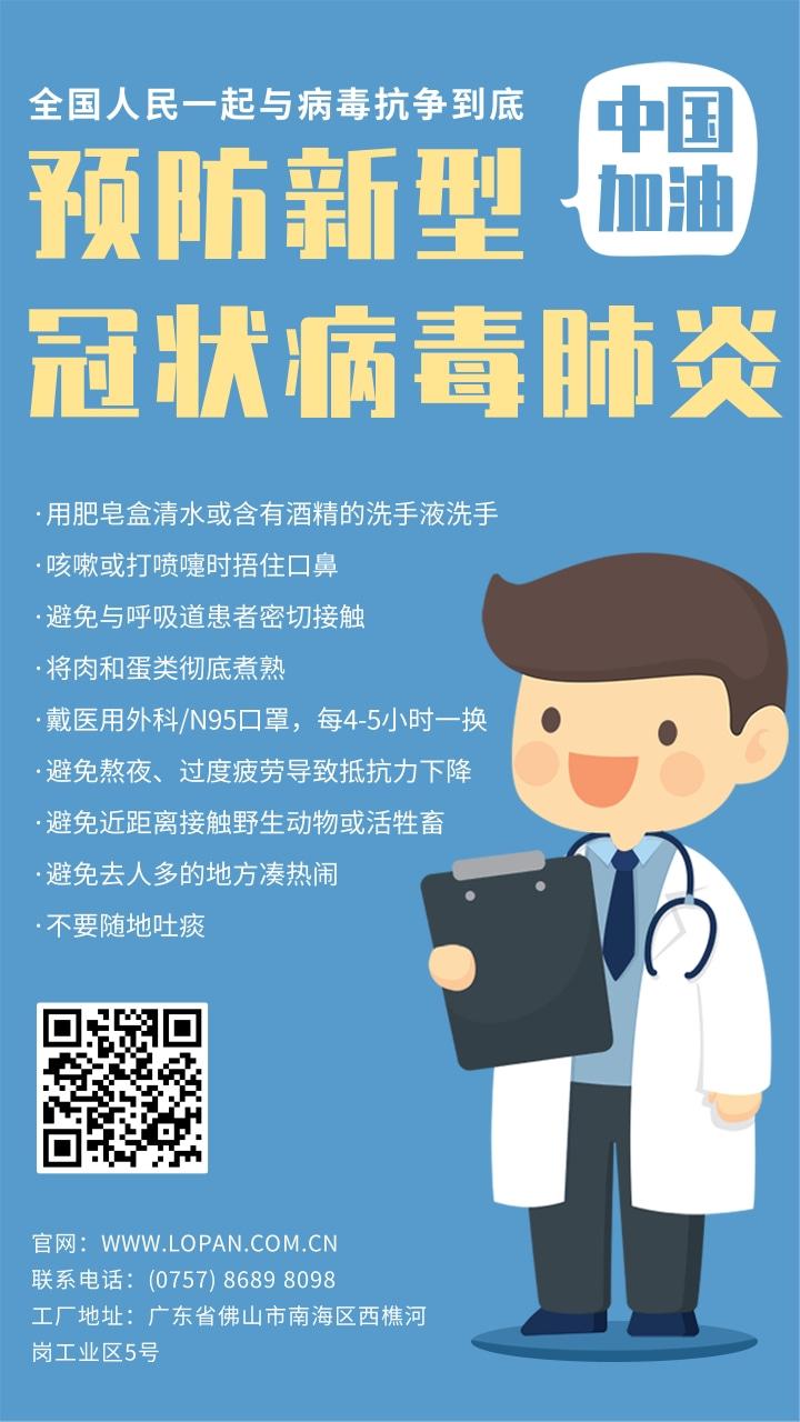 新型冠状病毒肺炎医疗健康知识海报@LONGPAN.jpg